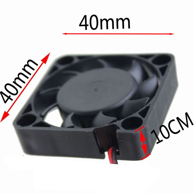 2pcs 12V Mini Cooling Computer Fan - Small 40mm X 10mm DC Brushless 2-pin O.15