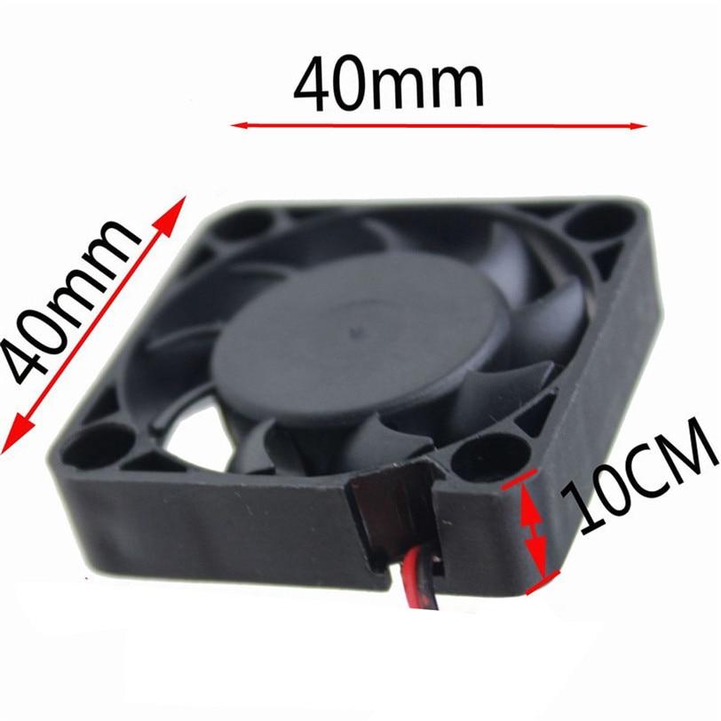2pcs 12V Mini Cooling Computer Fan - Small 40mm X 10mm DC Brushless 2-pin O.15