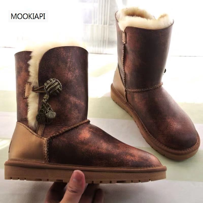 New boots of Australian brand in 2020, 100% real sheepskin, 100% natural wool, classic women's shoes, free delivery
