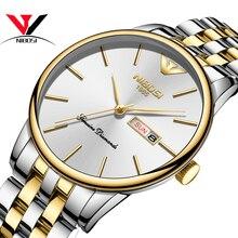 2020 NIBOSI Men's Gold Watch Classic Luxury Fashion Quartz Chronograph