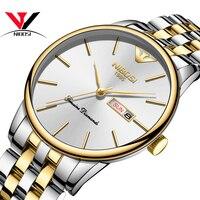 2020 nibosi relógio de ouro masculino clássico luxo moda quartzo cronógrafo relógio masculino todo o aço relógio à prova dwaterproof água relogio masculino|Relógios de quartzo| |  -
