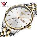 NIBOSI 2020 мужские золотые часы классические роскошные модные кварцевые часы с хронографом мужские полностью стальные водонепроницаемые часы ...