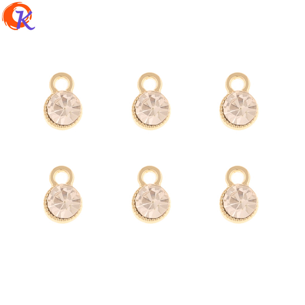 Cordial Design 100Pcs 5*8MM Rhinestone Charms/Jewelry Accessories/Connectors/Round Shape/DIY Making/Hand Made/Earring Findings