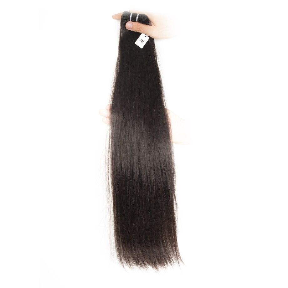 Double Drawn  Bundles Natural Color Straight Short    Long  for Black Women 5
