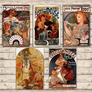 Классическое винтажное крафт-постеры Alphonse, пивное шоколадное печенье, холст, настенные наклейки, Декор для дома, подарок