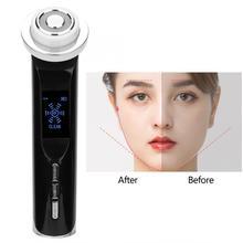 Rf EMS омоложение кожи лица лифтинга Очищение горячий холодный компресс красота устройство кожи массажер для лифтинга вибрационное устройство