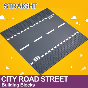 Image 4 - City Road Street Baseplate Straight Crossroad Curve T Junction Building Blocks 7280 7281 Base Plate compatible LegoINGlys City