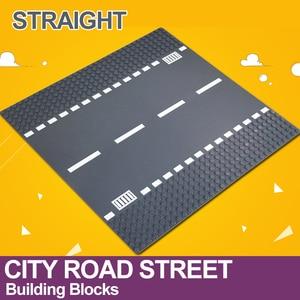 Image 4 - 市道ストリートベースプレートストレート交差点曲線 T 接合ビルディングブロック 7280 7281 ベースプレート互換 LegoINGlys 市