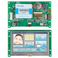 프로그램 가능한 lcd 패널 장비 제어 및 디스플레이 용 컨트롤러 보드 및 프로그램이있는 4.3 인치 터치 스크린