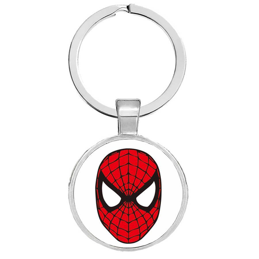 Spiderman Avengers Móc Khóa Đội Trưởng Mỹ Người Sắt Siêu Nhân Người Nhện Chìa Khóa Hoder Trẻ Em Bé Trai Punk Móc Khóa Trang Sức