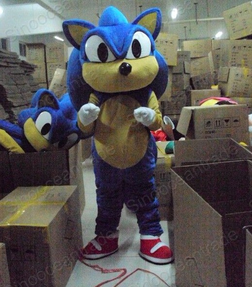 Factory Direct Sale Classic Sonic Hedgehog Doll Mascot Costume Adult Halloween Birthday Party Cartoon Apparel Cosplay Costumes