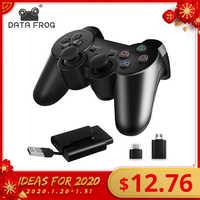 Joystick gamepad para o controlador do jogo do joystick do pc joypad para o telefone esperto de android/caixa da tevê sapo 2.4g sem fio dos dados para ps3/ps2