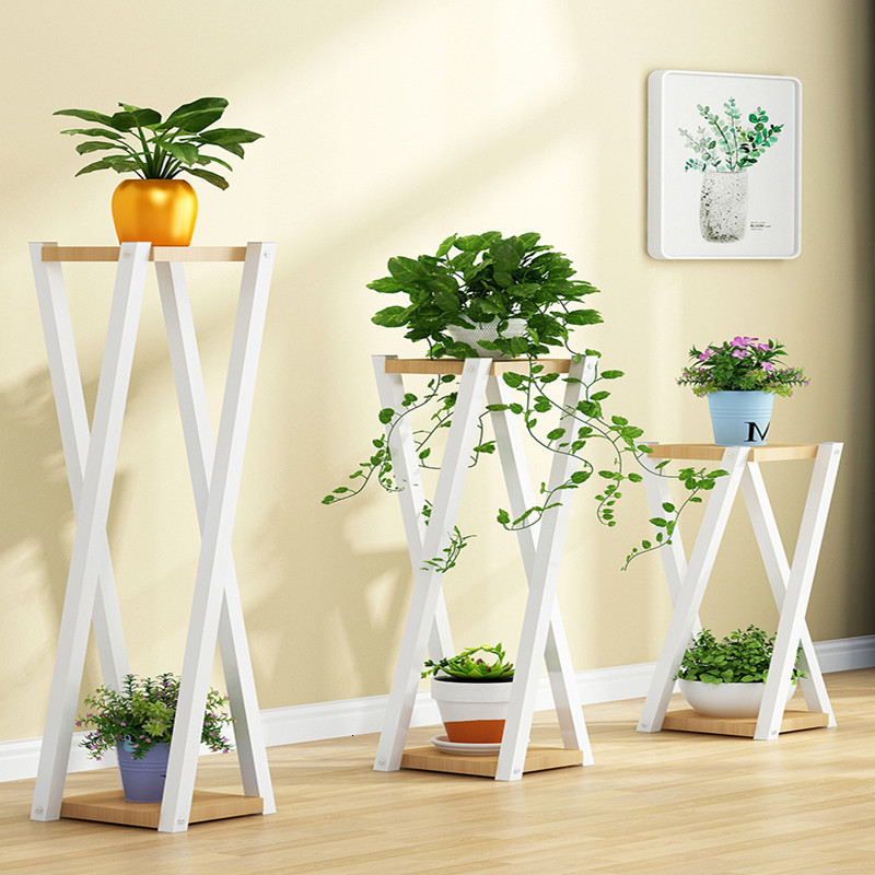 Airs Multi-storey Indoor Household Shelf Flowerpot Landing Type Meaty Green Luo A Living Room Balcony Botany Decorate Frame
