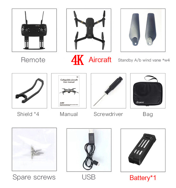 Drone 4k 1080p 720p Dron Mini Drone 4k Hd Camera Cheap Vr Glasses Kids Toy Com Camera Rc Helicopter Military 6ch 4ch Black Gift