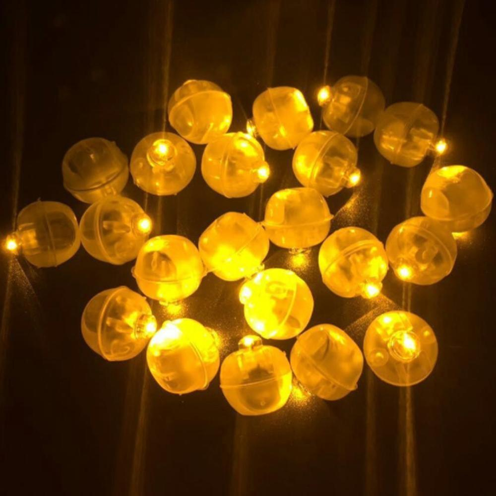 50×Mini LED Berries Light Toy Glowing Balloon Toy Light Fairy Ball Party Christmas Favor Concert Decoration