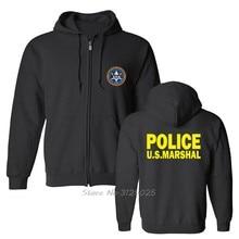 Us Verenigde Staten Marshal Politie Militaire Special Force Afdeling Hoodie Mannen Fleece Sweatshirt Hoody Streetwear Hoodies Harajuku