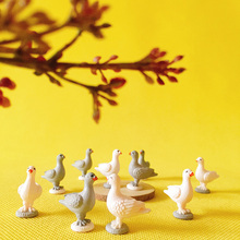 10Pcs pigeon/parrot/little bird/doll house miniatures/cute/fairy garden gnome/moss terrarium decor/crafts/DIY supplies/figurine