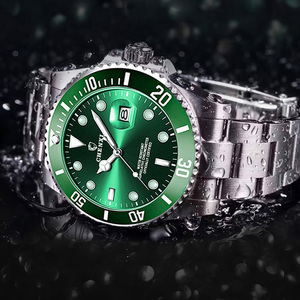 Image 3 - Luxury Green Men Watches Classic Silver Stainless Steel 30M Waterproof Casual Business Mens Sport Wrist Watch  Japan Movement