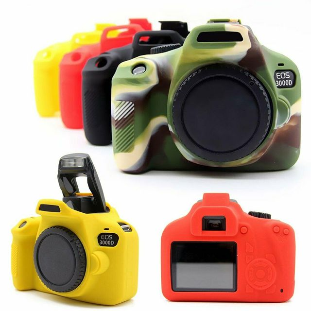 Silicone Armor Skin Case Body Cover Protector for Canon EOS 4000D 3000D Rebel T100 DSLR Camera ONLY
