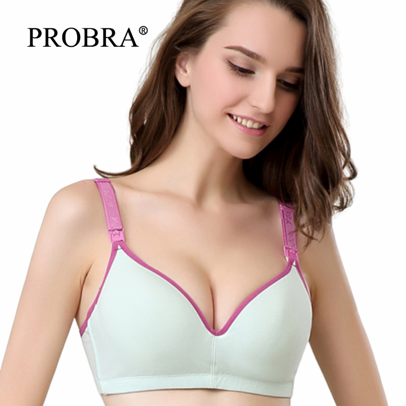 Cotton Velvet For Feeding Bra Pregnancy Clothes Nursing Bra - Maternity Clothings Sleep Underwear Breast Women Mothers Nursing B