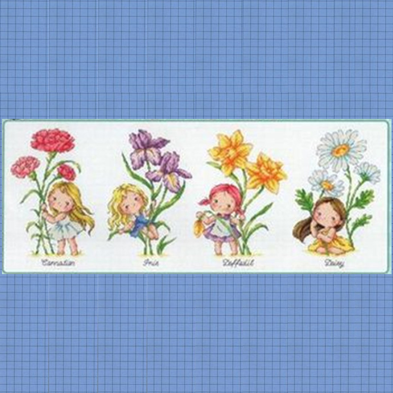 G143 Stich Cross Stitch Kits Craft Packages Cotton Fabric Floss Counted New Designs Needlework Embroidery Cross-Stitching