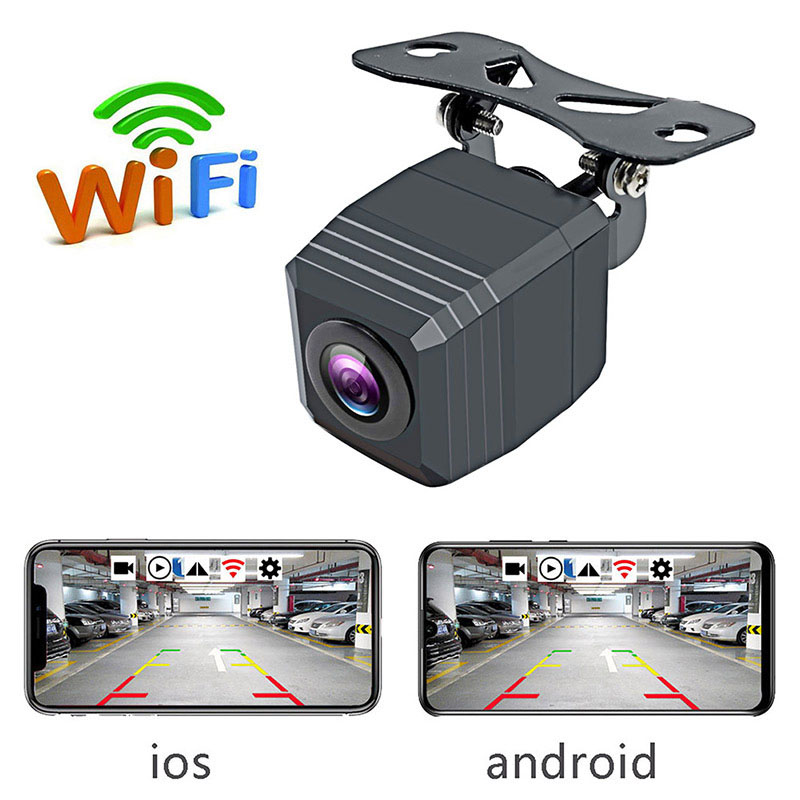 Wireless Car Rear View Camera WIFI 150 Degree WiFi Reversing Camera Dash Cam HD Night Vision Mini For IPhone Android