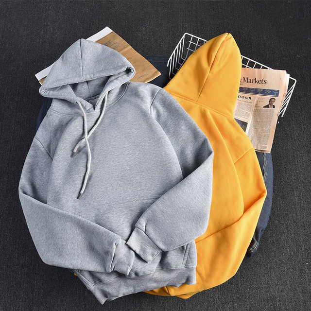 Ailegogo Casual Solid Hooded Hoodies Women Long Sleeve Plus Size Sweatshirts Autumn Pullover Pure Fashion Tops Sudaderas 3