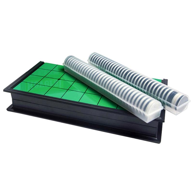 Ablb -- magnético portátil dobrável reversi othello placa xadrez padrão educacional casa pais-crianças família jogo