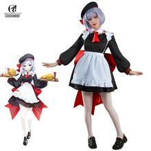 ROLECOS Genshin Impact Noelle Cosplay Costume Game Cosplay Maid Costume for Women Lolita Dress Girl Jk Uniform With Hat Outfit