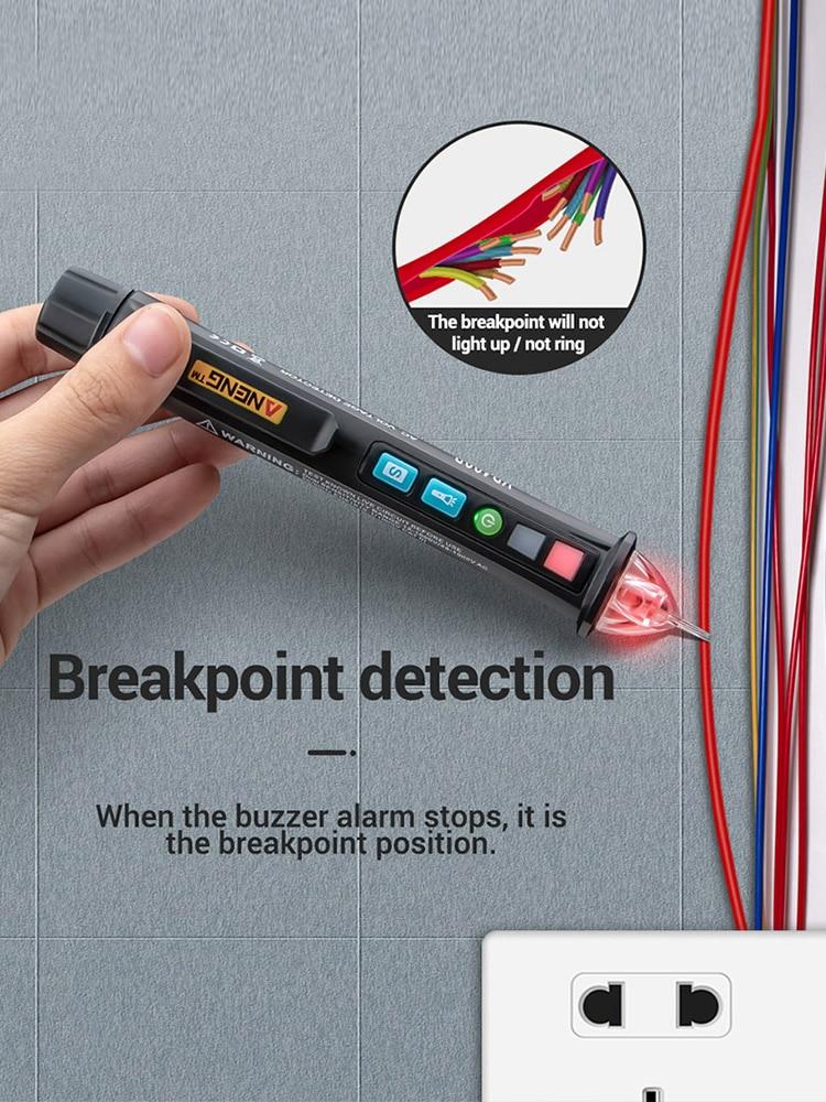 12V-1000v VD409B Crcuit Breaker Finder LED Tester Non-Contact AC Voltage Detector Tester Meter Pen Wire Tracker Scanmarker