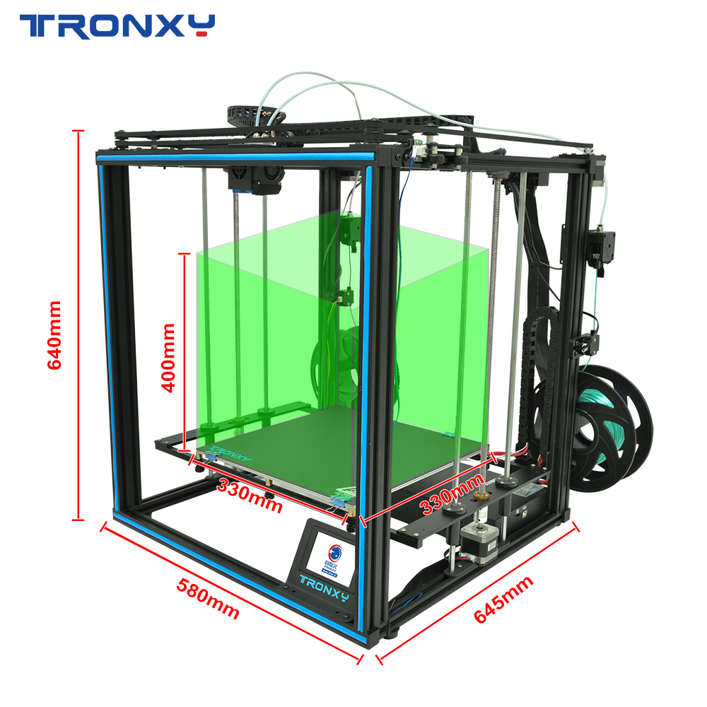 Tronxy 3D Printer X5SA-2E Bicolor 2 in 1 out  Dual Extruder DIY Print Kits Auto level Printing imprimante 3d printer hotend 5