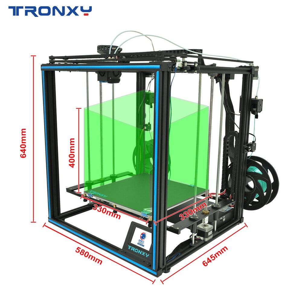 Tronxy 3D Printer X5SA-2E Bicolor 2 in 1 out  Dual Extruder DIY Print Kits Auto level Printing imprimante 3d printer hotend 5