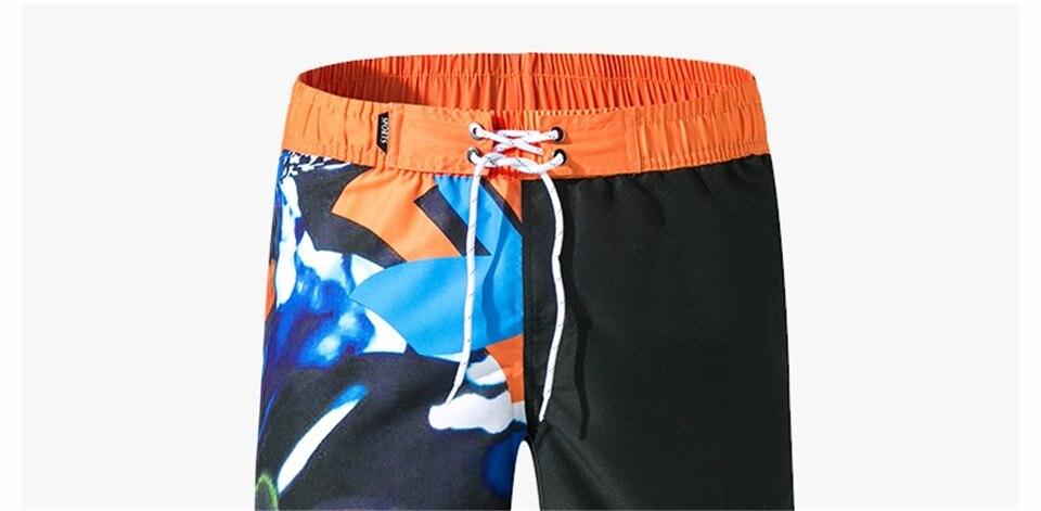 Mais tamanho M-3XL shorts de impressão masculina