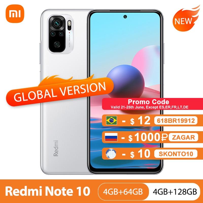 Global Version Xiaomi Redmi Note 10 4GB 64GB/128GB Mobile Phone Snapdragon 678 6.43