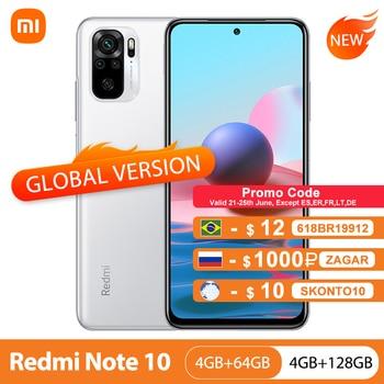 "Global Version Xiaomi Redmi Note 10 4GB 64GB/128GB Mobile Phone Snapdragon 678 6.43"" AMOLED Display 5000mAh 48MP Quad Camera"