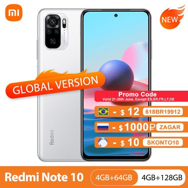 Global Version Xiaomi Redmi Note 10 4GB 64GB/128GB Mobile Phone Snapdragon 678 6.43 1