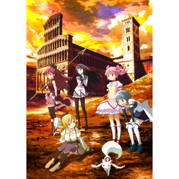 D0788 Puella Magi Madoka Magica Anime Silk Fabric Poster Art Decor Indoor Painting Gift image