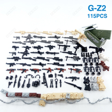 115PCS Weapons Box Guns Mini Soldier Accessories Military Series Building Block Figures Army Kits Model Brick Children Kids Toy