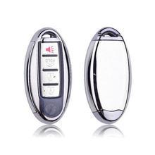 TPU + PC carcasa de llave de mando a distancia de coche caso clave cadena para Nissan para Infiniti Q50 FX35 FX FX37 G37 G35 llave de coche bolsa llavero