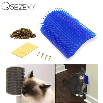 Pet Product For Cat Self Groomer Wall Brush Corner Cat Massage Self Groomer Comb Brush With Catnip Cat Rubs with a Tickling Comb 1
