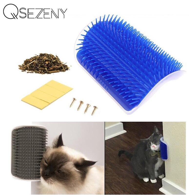 고양이 자체 Groomer 벽 브러쉬 코너 고양이 마사지에 대한 애완 동물 제품 Catnip 고양이와 자기 Groomer 빗 브러시 간질 빗으로 문질러