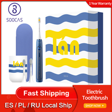 Soocas X5 Sonicแปรงสีฟันไฟฟ้าชาร์จUSBอัพเกรดผู้ใหญ่IPX7 Ultra SonicฟันBrush12โหมดทำความสะอาดด้วยหัวแปรง