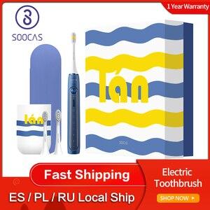 Image 1 - Soocas X5 spazzolino elettrico sonico USB ricaricabile aggiornato adulto IPX7 spazzolino da denti Ultra sonico 12 modalità pulite con testine