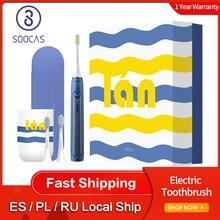 Soocas cepillo de dientes eléctrico X5 recargable por USB, actualizado, para adultos, IPX7, Ultra sónico, 12 modos de limpieza con cabezales de cepillo