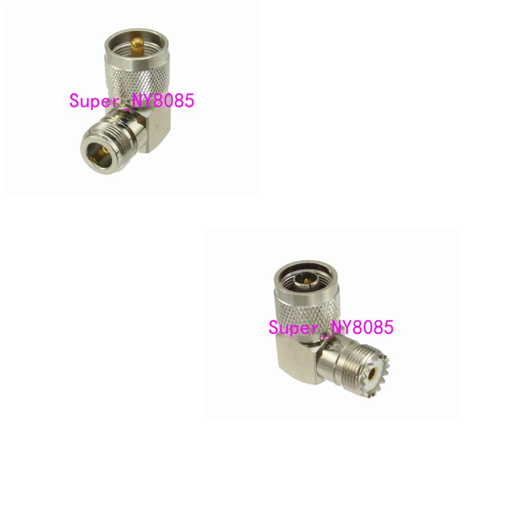 1pce UHF PL259 SO239 To N Male Plug & Female Jack Right Angle RF Coaxial Adapter Connector