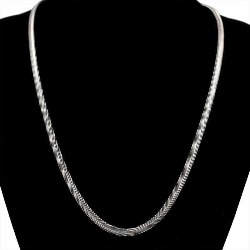 パーソナライズネックレス女性の男性のゴールドストリートヒップホップ縁石スネークリンクチェーンネックレスファッションジュエリー