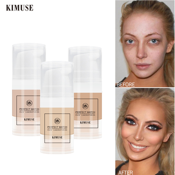KIMUSE Perfect Full Coverage Liquid Concealer Foundation Facial Corrector Waterproof Base Makeup Eye Dark Circles Acne Cosmetic dermacol brand high quality concealer liquid foundation cover freckles acne marks waterproof professional primer cosmetic makeup