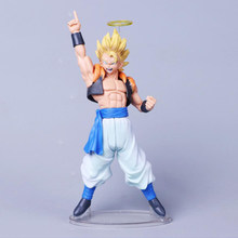 Anime Dragon Ball Z DBZ PVC Modelo de Fusão Anjo Aura Son Goku Super Saiyan Vegeta Gogeta Figuração de Chocolate Com Ação fig(China)