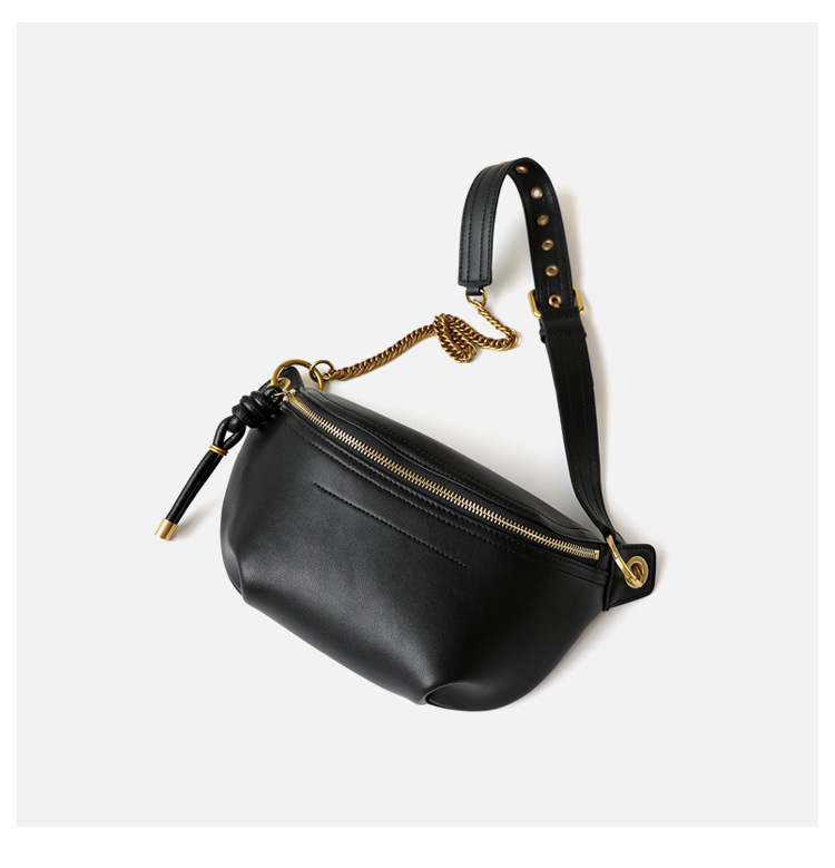 Newest Genuine Leather Women Chest Bag 2020 Luxury Designer Ladies Messenger Bags High Quality Female Shoulder Bag Waist Packs