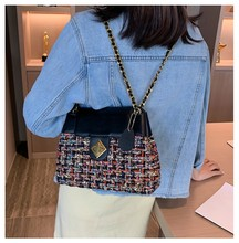 Luxury chain ladies bag plush wool tidal shoulders autumn and winter fashion small square handbag sac a femme de marqu